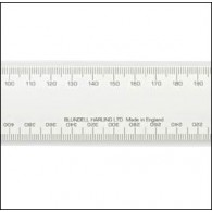 No 2 Academy Civil Engineers Scale Rule 12 Inch (300mm)