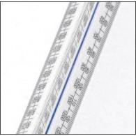 Metric A Academy Triangular Scale Rule 300mm