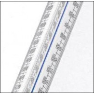 No 1 Academy Architects Triangular Scale Rule 12 Inch (300mm)