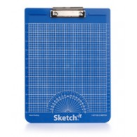 Sketch-it Straight Line Clipboard - Metric (Blue)