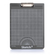 Sketch-it Straight Line Clipboard - Metric (Grey)