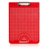 Sketch-it Straight Line Clipboard - Metric (Red)
